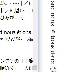 eだけが縦書きになった仏文